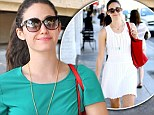 High and low: Emmy Rossum donned a casual ensemble in Beverly Hills on Saturday, left, after wearing a summery dress on Friday, right