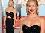 No competition! Kate Hudson looks incredible in floor-length black dress with elegant cutout detail