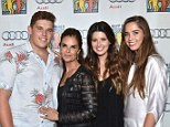 Family portrait: Maria Shriver was joined by her children Christopher, Katherine, and Christina at the Maria Benefit Beverly Hills on Sunday