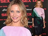 Cameron Diaz continues to cover up in demure dress as she promotes raunchy new film Sex Tape in New York