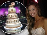 Katherine Webb makes a beautiful bride in lace princess dress as first look inside her elaborate wedding reception is revealed