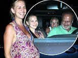Kelsey Grammer's heavily pregnant wife Kayte Walsh dresses her bump in floral sundress for daughter Faith's second birthday party