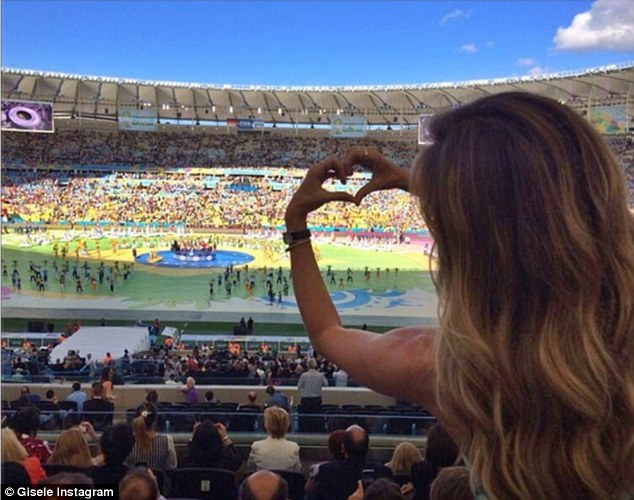 Lovely: She Instagrammed this image, showing a breathtaking scene before her