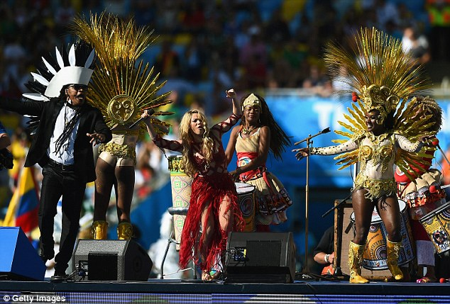 Star-studded event: The closing ceremony concluded with musical performances, including one by Shakira
