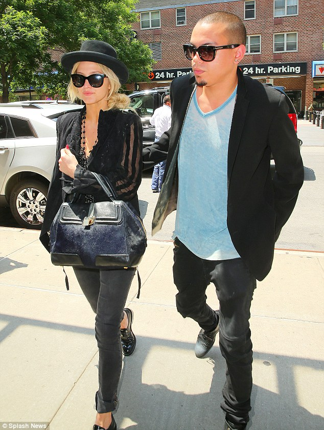 Excited: There have been rumours that Ashlee's wedding to Evan may take place in Connecticut or may take place in LA at Diana Ross' residence. The couple are pictured here in New York on June 25