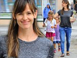 Just me and my girls! Jennifer Garner is a hands-on mom as she takes her daughters out for ice cream