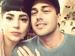 Love: Lady Gaga shared this picture of herself and her beau Taylor Kinney on Instagram Saturday
