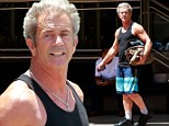 Now those are some Lethal Weapons! Mel Gibson, 58, shows off his bulging biceps after finishing up a workout in LA