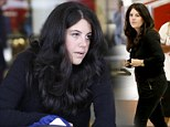 Monica Lewinsky looks tired as she arrives in Los Angeles