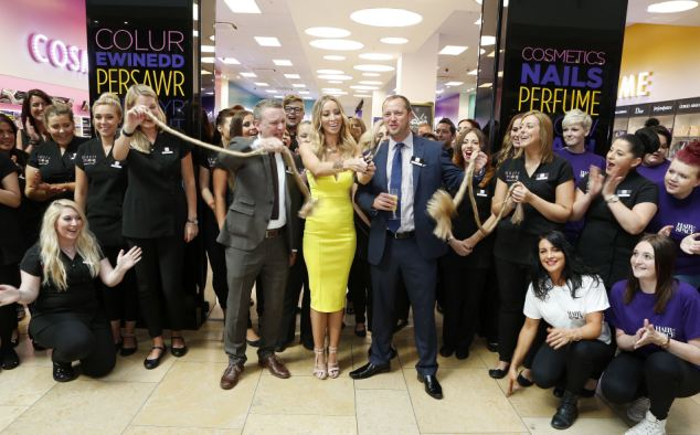 TOWIE star Lauren Pope opened the new Beauty Studio by Superdrug in their Cardiff store, which offers a £15 blow-dry