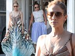 Jennifer Lopez and Leah Remini hit the shops in the Hamptons on Friday