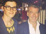 No special treatment: Brosnan and his son pictured with David Gregory of Meet the Press. A representative with Sen Markey's office says Dylan will be treated like any other intern