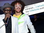 'Love you @RedFoo but my crew are back on tele': On-air rivals will.i.am and Redfoo Tweet each other as The Voice Australia and X Factor go head-to-head in the ratings