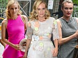 Third time's a charm! Diane Kruger sports THREE different dresses as she squeezes in promotional appearances for The Bridge