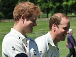 Prince Harry (left) and Prince William (right) taking part in a cricket match with former international players to raise awareness about the illegal wildlife trade