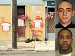 The shrine to Jersey City cop-killer Lawrence Campbell was allegedly taken down by authorities over night, but his family rebuilt it this morning just two blocks away