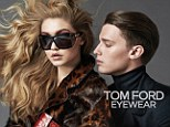 Chic: Gigi Hadid and Patrick Schwarzenegger star in Tom Ford's new eyewear campaign