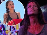 She's a long way from Summer Bay! Tammin Sursok walks the street a bloody mess in teaser for slasher flick Darknet
