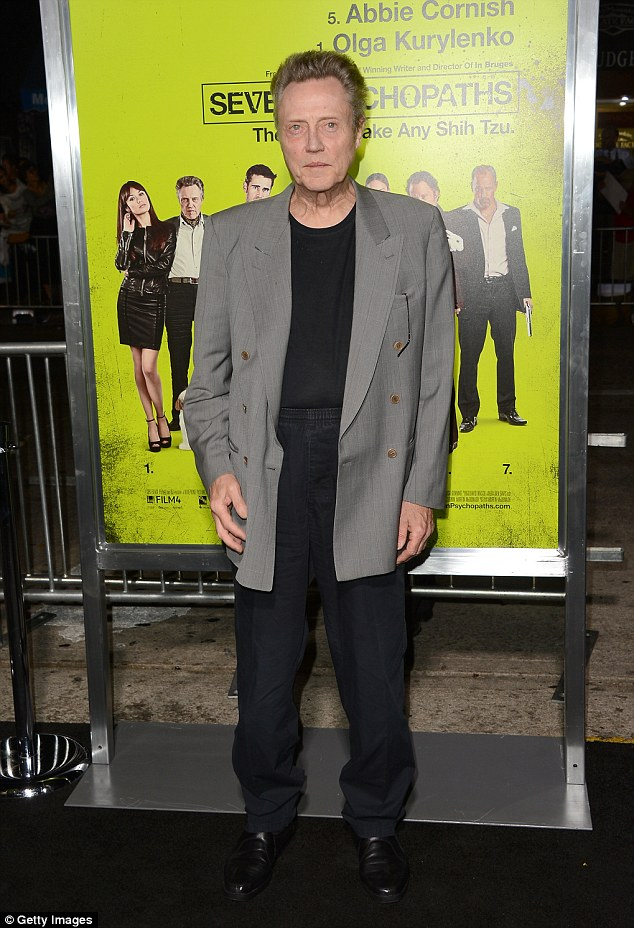 A pirate's life for him: Christopher,  seen here arriving at the premiere of  Seven Psychopaths on October 1, 2012 in Westwood, California, will sing and tap dance in the role