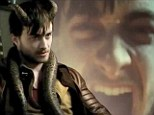 From schoolboy wizard to horny devil: Daniel Radcliffe dons a pair of goat-like horns as he takes on evil role in new movie