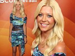 It's a Tar-nado! Tara Reid cannot resist showing off some flesh in a twisted panelled dress as she promotes Sharknado 2
