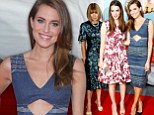 The In Crowd: Allison Williams was seen posing with Anna Wintour, left, and her daughter Bee Shaffer, middle, as they attended the Wish I Was Here premiere in New York City Monday