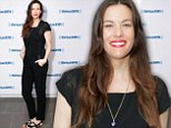 Fell flat: Liv Tyler wore an underwhelming all-black ensemble as she visited SiriusXM Studios in New York City on Monday