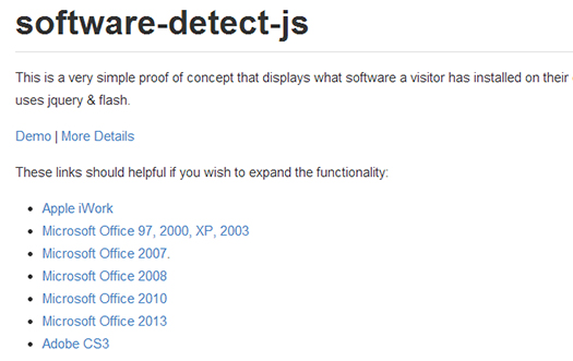 Detect-the-Software-a-Visitor-Has-Installed-Software-Detect