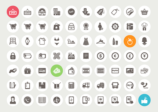 70-Ecommerce-and-Shopping-Icons-AI-EPS-PSD