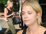 Make-up free Ashley Benson trades in her Spring Breakers bikini for baggy green pants on casual outing in New York