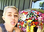 Her signature move: Miley Cyrus stuck out her tongue in a new Instagram shot posted on Tuesday