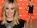 Ashley Tisdale puts on a long and leggy show in tiny red leather skirt to promote new show Young And Hungry at summer TCAs