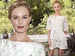 Pretty in pastels! Kate Bosworth cuts a stylish (and slim) figure in floral mini dress as she launches new fashion app