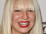 Sia later: Australian singer/songwriter Sia has had her first number one album in the US, taking out the top spot on the Billboard