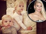 'So happy to be home snuggling!' Jessica Simpson returns from honeymoon to share a cute snap of her two children