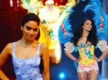 A trip down memory lane! Model Shanina Shaik re-visits her iconic angel outfit at the Victoria's Secret store