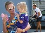 Alex Gerrard and family in Ibiza