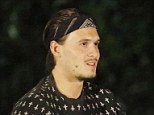 Bandana: With his new head gear, Charlie seems to think he is Silvio Dante from the Sopranos as he told Ferne Elliott had 'disrespected' him