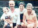 Happier days: Max Riddington (centre), with her mum Shelia, dad ken and son Tom, then aged three
