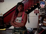 Miss March: Danae Mines (pictured) has made history as the first woman to appear in the FDNY's annual Calendar of Heroes, despite being told that it was an honor reserved only for men