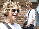 Meg Ryan looks gaunt and a little worn out while exiting New York hotel... as When Harry Met Sally turns 25