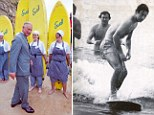 Prince Charles surfing