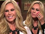 Tamra Barney coyly confesses to having 'just a little bit' of cosmetic work done as she displays fuller cheeks and squinty eyes during TV appearance