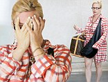 Flirting With Disaster: Patricia Arquette steps out in ill-fitting shirt dress with bizarre across the body bag, clunky anklet and wobbly wedges