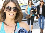 Quick change artist! Svelte Nikki Reed goes from tight jeans and cowboy boots to yoga master outfit in one day