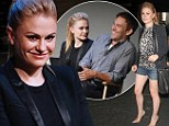 Anna Paquin flashes her long legs in tiny shorts... after putting her husband Stephen Moyer in stitches during True Blood interview
