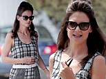 Katie Holmes sports retro bouffant hairdo as she joins co-stars Ryan Reynolds and Dame Helen Mirren on Woman In Gold set