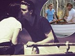 Get a room! Scott Disick shared a photo kissing long time love Kourtney Kardashian while on a romantic boat ride, emblazoned with 'Just like the Notebook' and captioned, 'only better'
