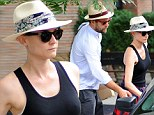 Diane Kruger was spotted checking out of her hotel on her birthday in New York City wearing a panama hat perfect for a tropical vacation while her boyfriend of eight years Joshua Jackson wore a matching style