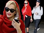 Rita Ora arrives into LA with boyfriend Ricky Hil... while going for old Hollywood style in a headscarf and sunglasses